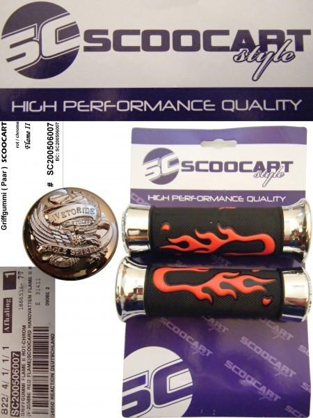 Handvatset Scoocart Flame II Rood/Chroom/Zwart