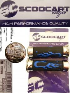 Handvatset Scoocart Flame II Blauw/Chroom/Zwart