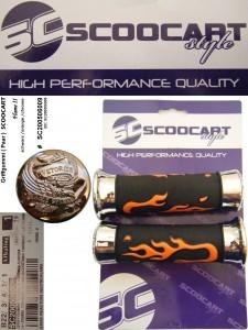 Handvatset Scoocart Flame II oranje/Chroom/Zwart