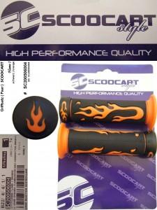 Handvatset Scoocart Flame Oranje Zwart